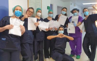 Alumnos de Salesianos de Mérida envían misivas a los sanitarios