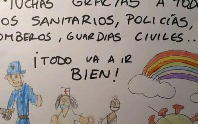 Dibujos dedicados a los superhéroes de esta crisis